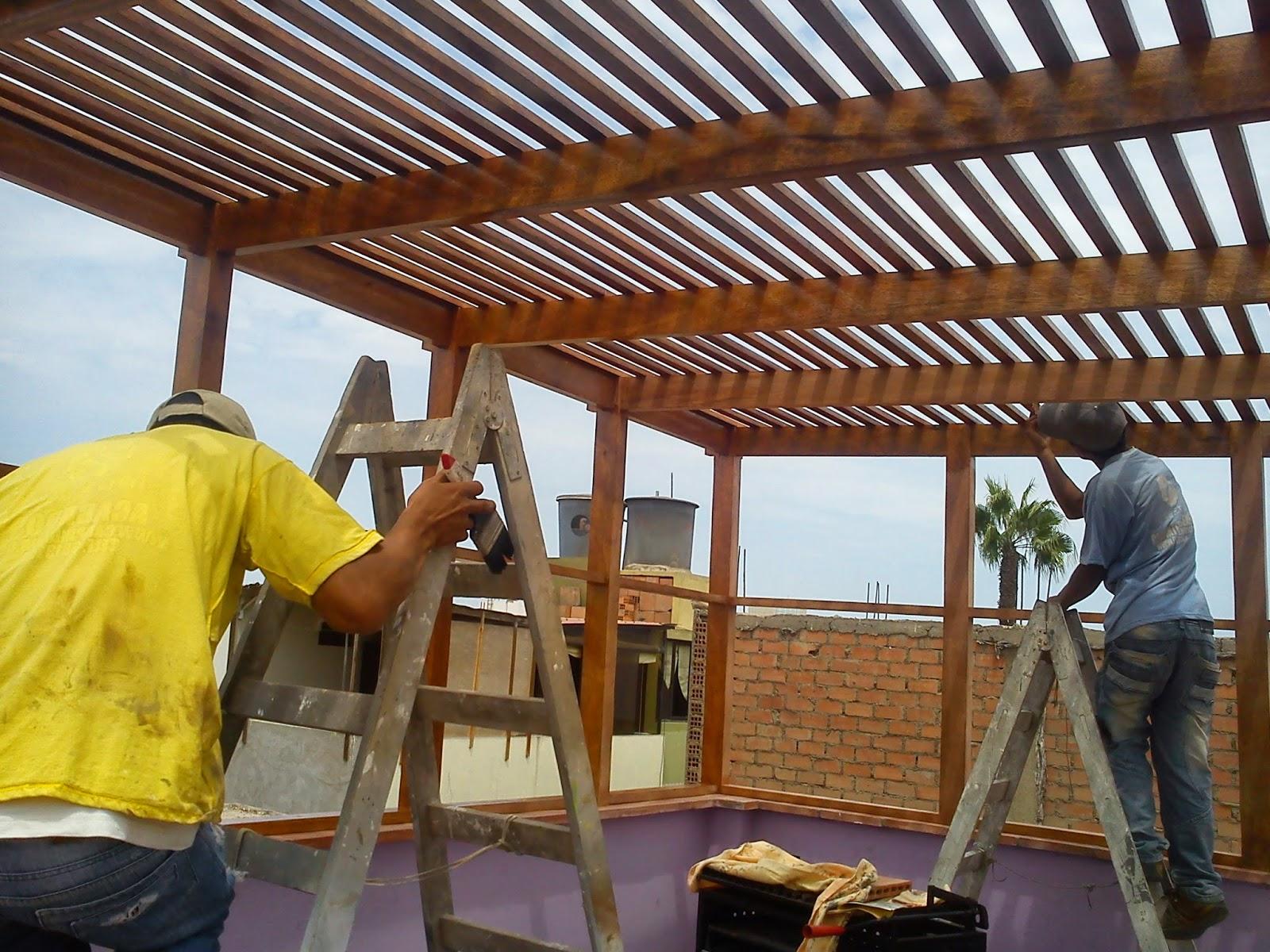 Trabajos en carpinter a general sistema drywall y - Toldos sol y sombra ...