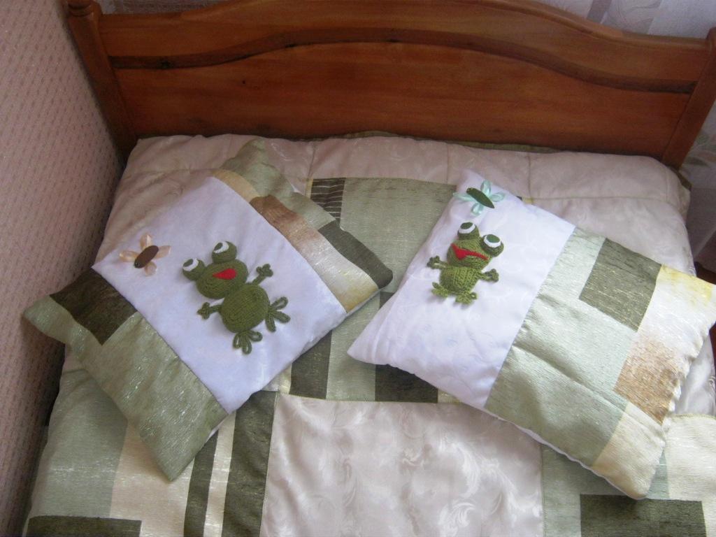 Сшить наволочку на подушку из кусков ткани 46