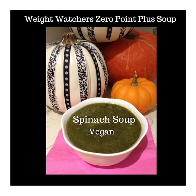 Weight Watcher zero point spinach soup