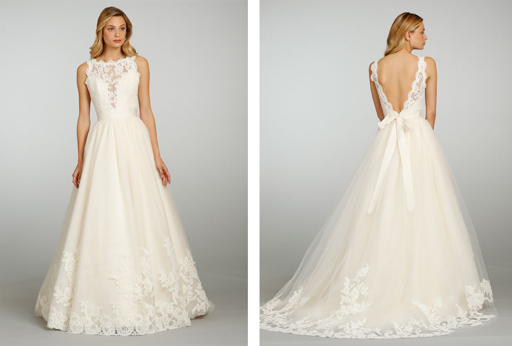 Choose your fashion style trend alert v back lace for No lace wedding dress