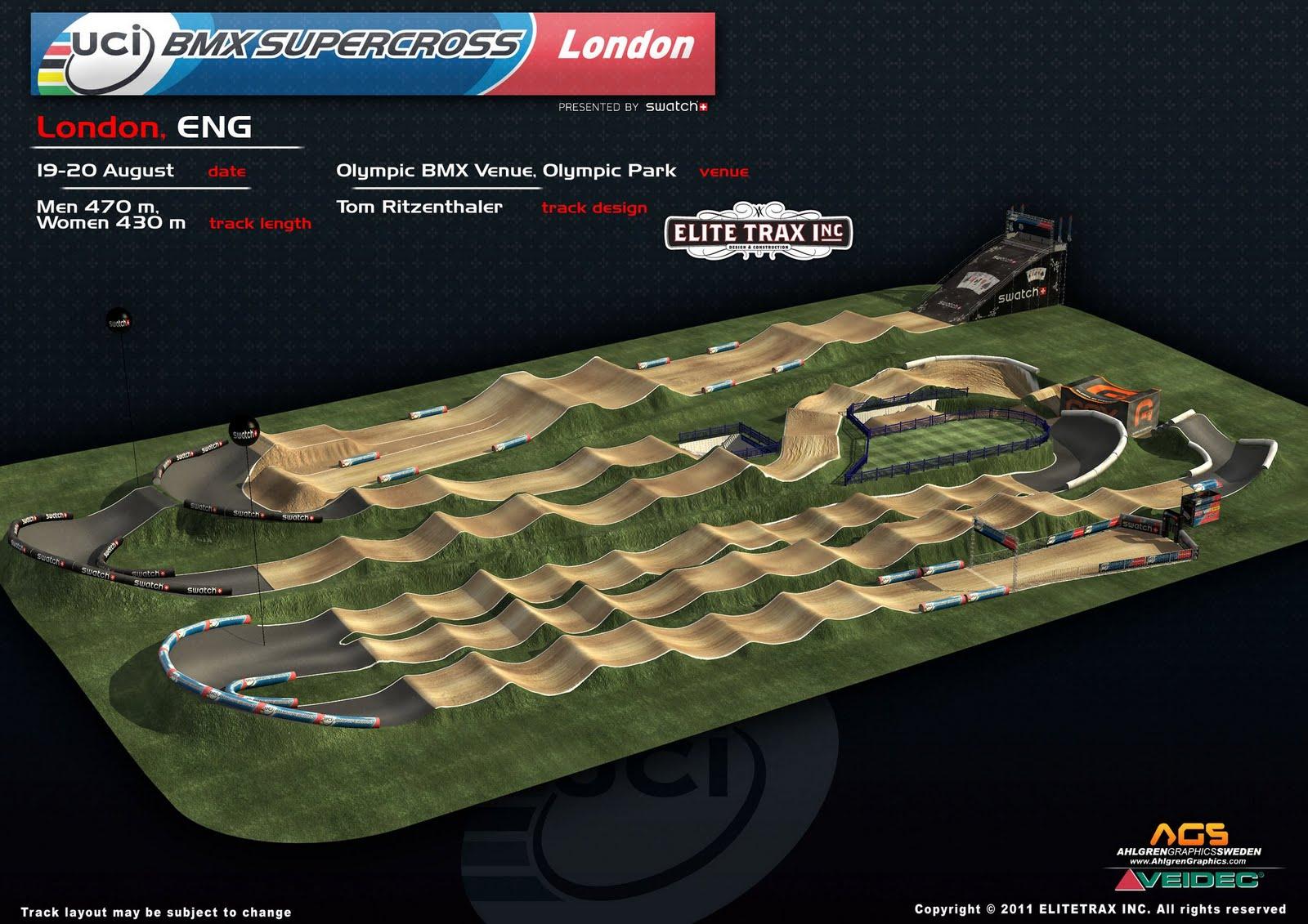 Bmx Chile Films Dise 209 O De La Pista Olimpica Para Londres 2012