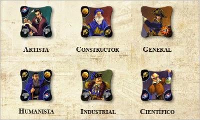 Grandes personajes de Civilization