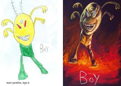 مجموعة من رسومات الأطفال العبقرية-منتهى