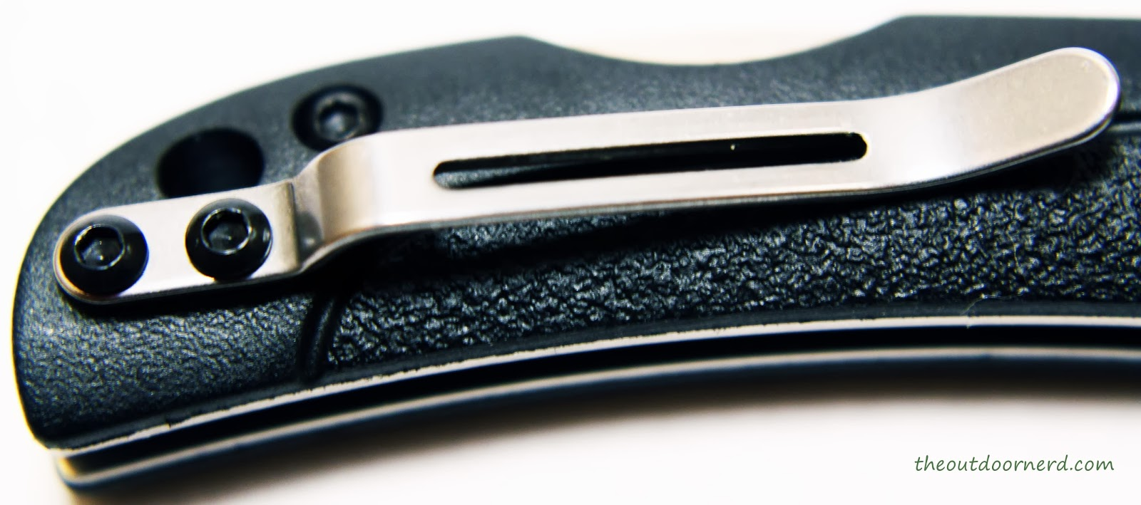 SanRenMu ZB-681 Pocket Knife - Closeup Of Clip