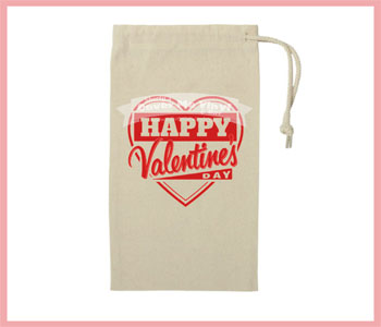 Valentine Heart Wine Bag