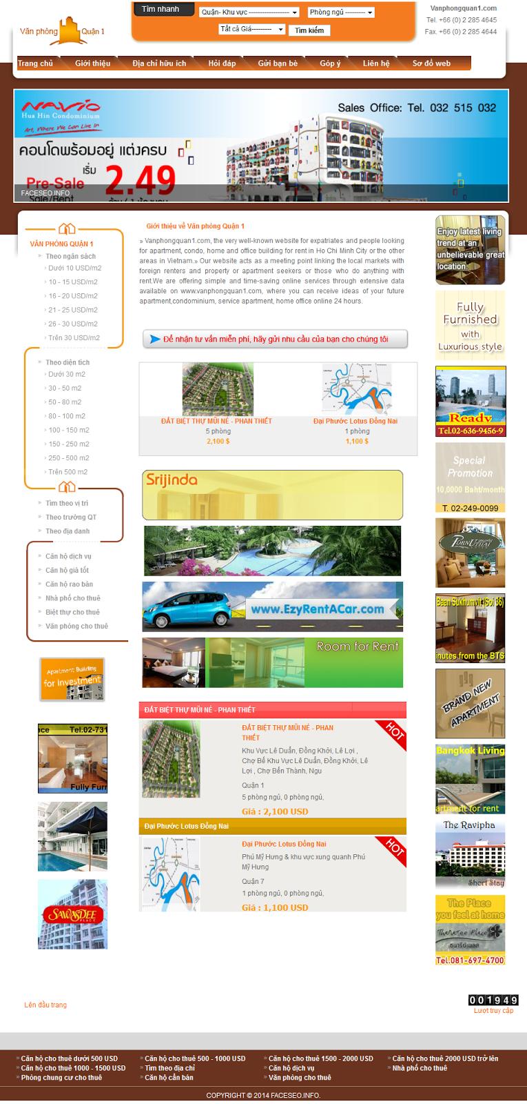 Mẫu website bds
