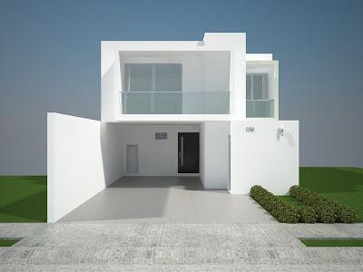 Fachadas minimalistas fachadas minimalistas modelo b6 for Casa minimalista bosque