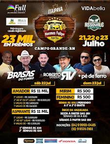 Vaquejada do Hermes Felipe Parque Show nos dias 21, 22 e 23 de Julho em Campo Grande