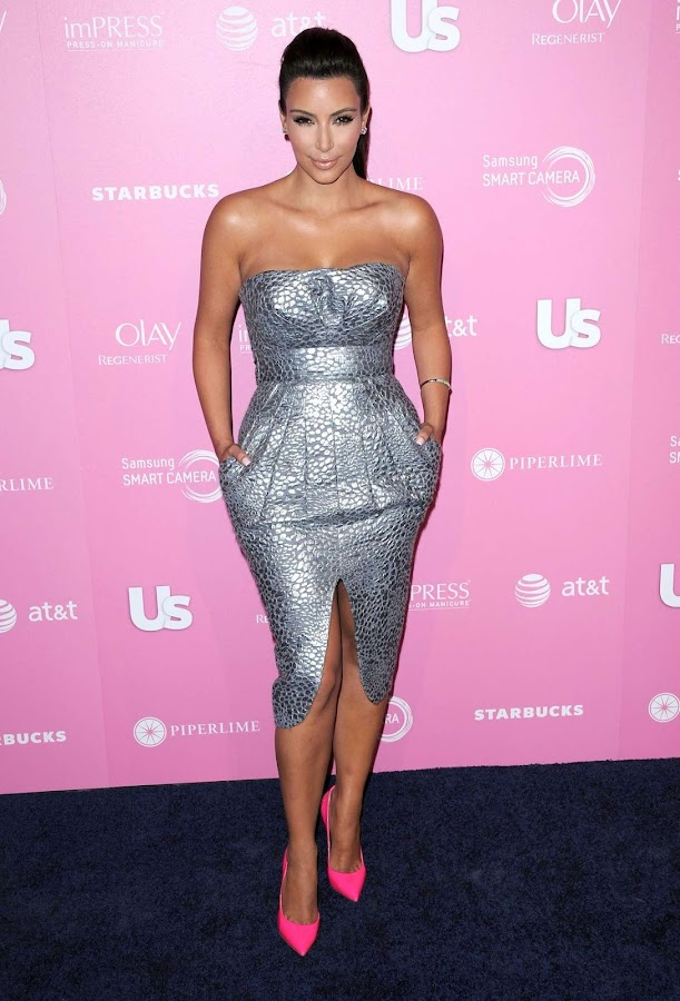 Kim Kardashian  receives a Total Pro Style Award at Us Weekly Hot Hollywood Style Party 2012