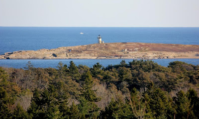 pond island light from fort baldwin