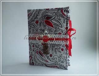Блокнот ручной работы в тканевой обложке,автор ЛюдмилаШ.