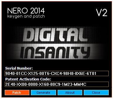 NERO 2014 platinum crack