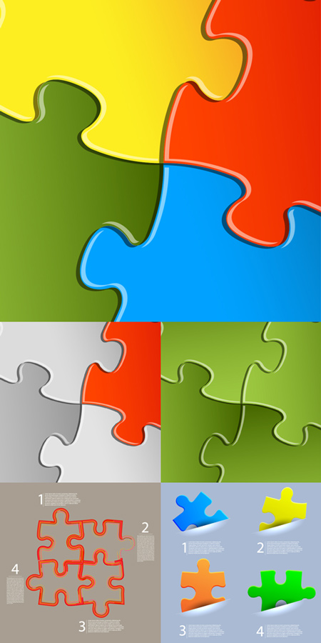 Jigsaw Puzzle - Vector Backgrounds