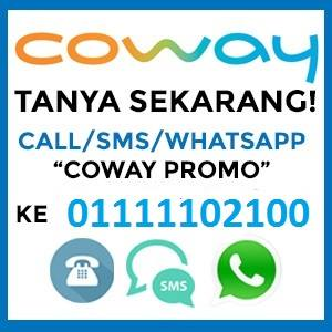 Promosi & Harga Penapis Air Coway 2017