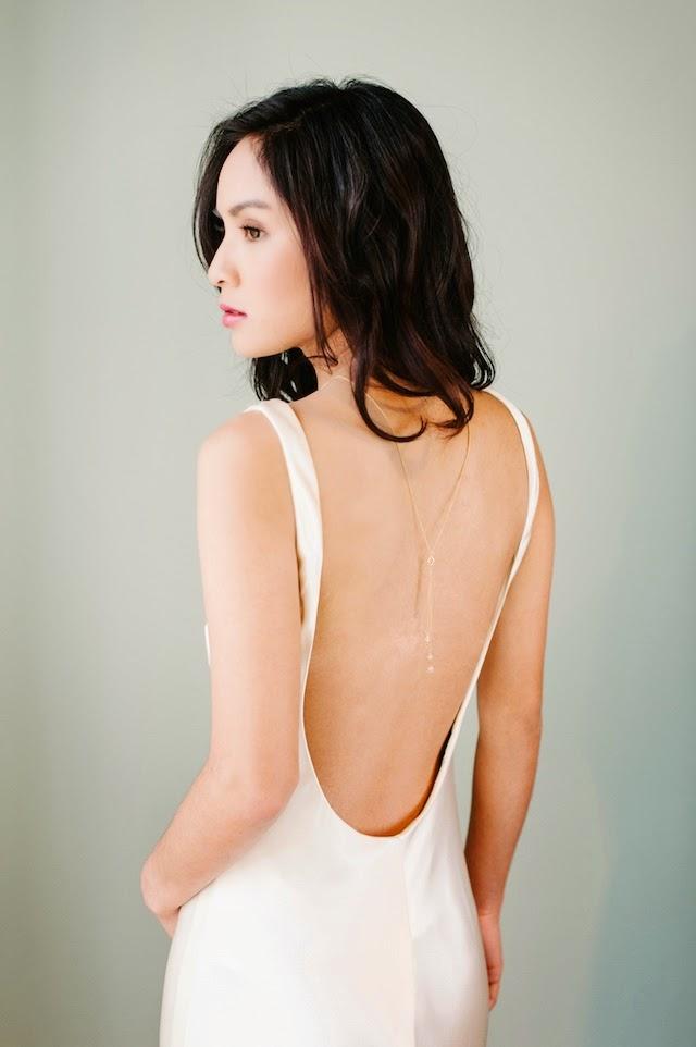 lariat necklace for backless wedding dress brides