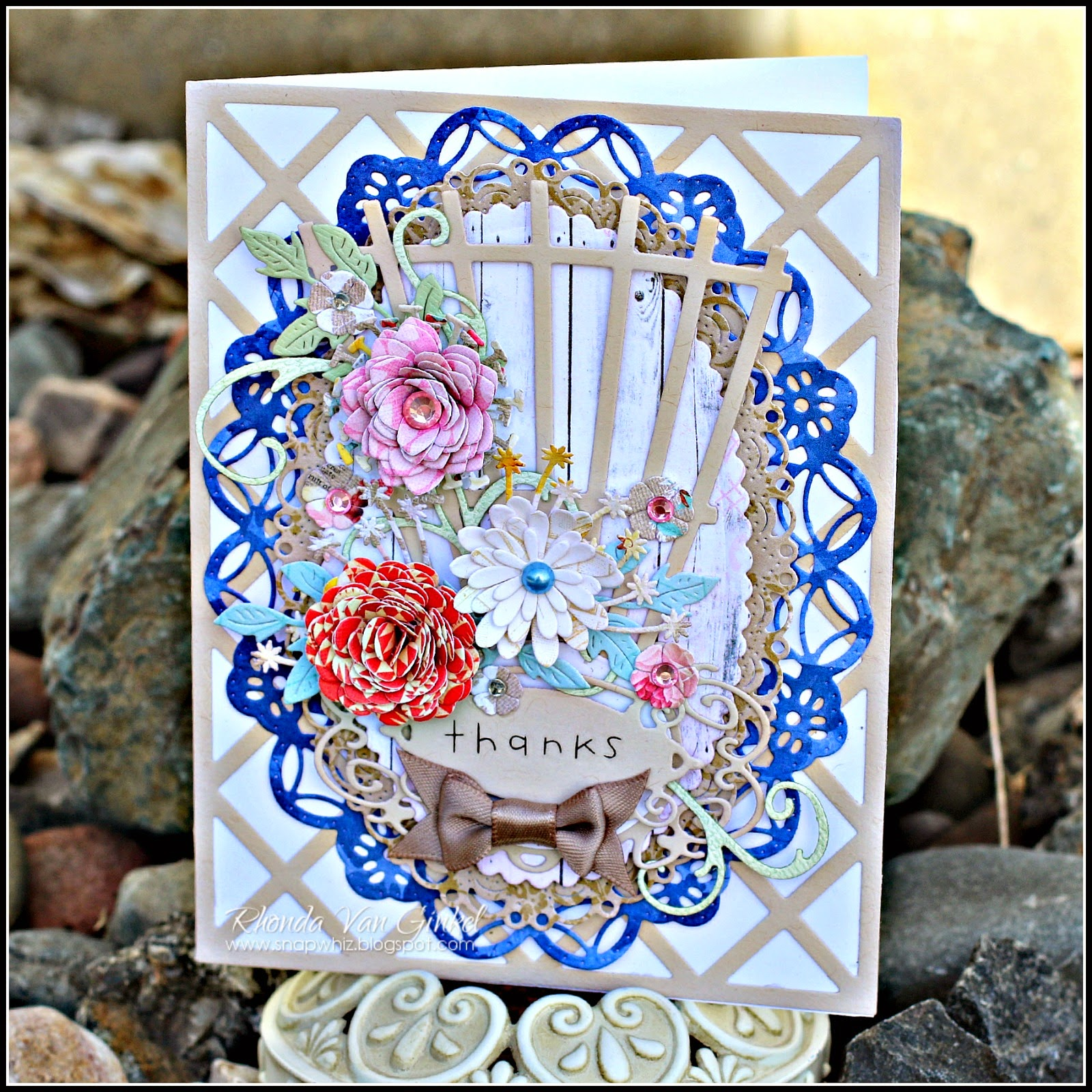 Lattice and Trellis card designed for Cheery Lynn Designs by Rhonda Van Ginkel