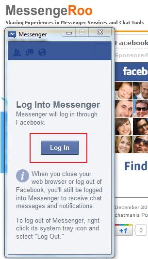 How to Login / Log In Facebook Messenger