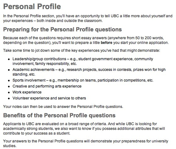 Profile Keywords Suggestions Sample Personal Personal Profile Resume ...