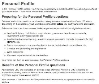 UBC Personal Profile