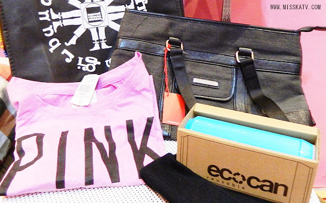 surplus promo sale christmas gift present pink bag shirt eco can beanie Marithé + François Girbaud black
