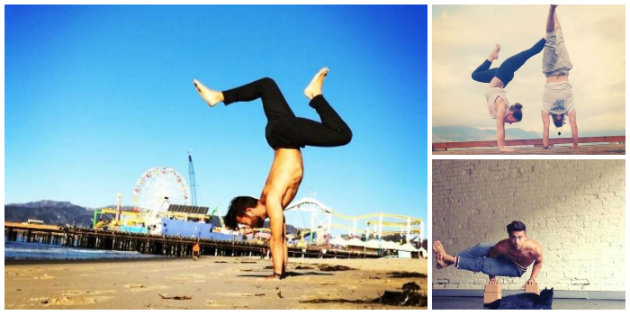 Patrick beach, instagram, yoga.  His greatest skill, balance.  Handstands