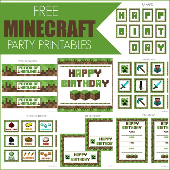 Minecraft: Kit para Imprimir Gratis.