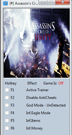 PC Trainers By Mr.AntiFun: Assassin's Creed Unity V1.1 Trainer +5