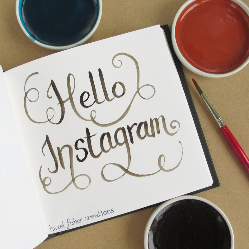 Hello Instagram sketchbook photo hazelfishercreations