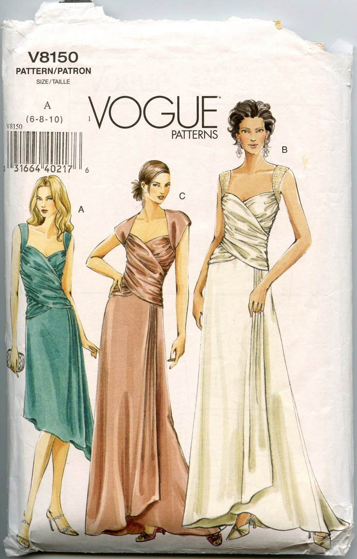 Vogue wedding dress patterns vintage for Wedding dress patterns free download