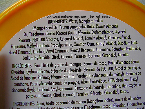 tbs mango body butter ingredients almond oil mangue beurre corporel