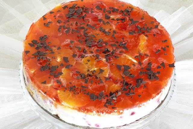 Torcik z jagodami i pomarańczą