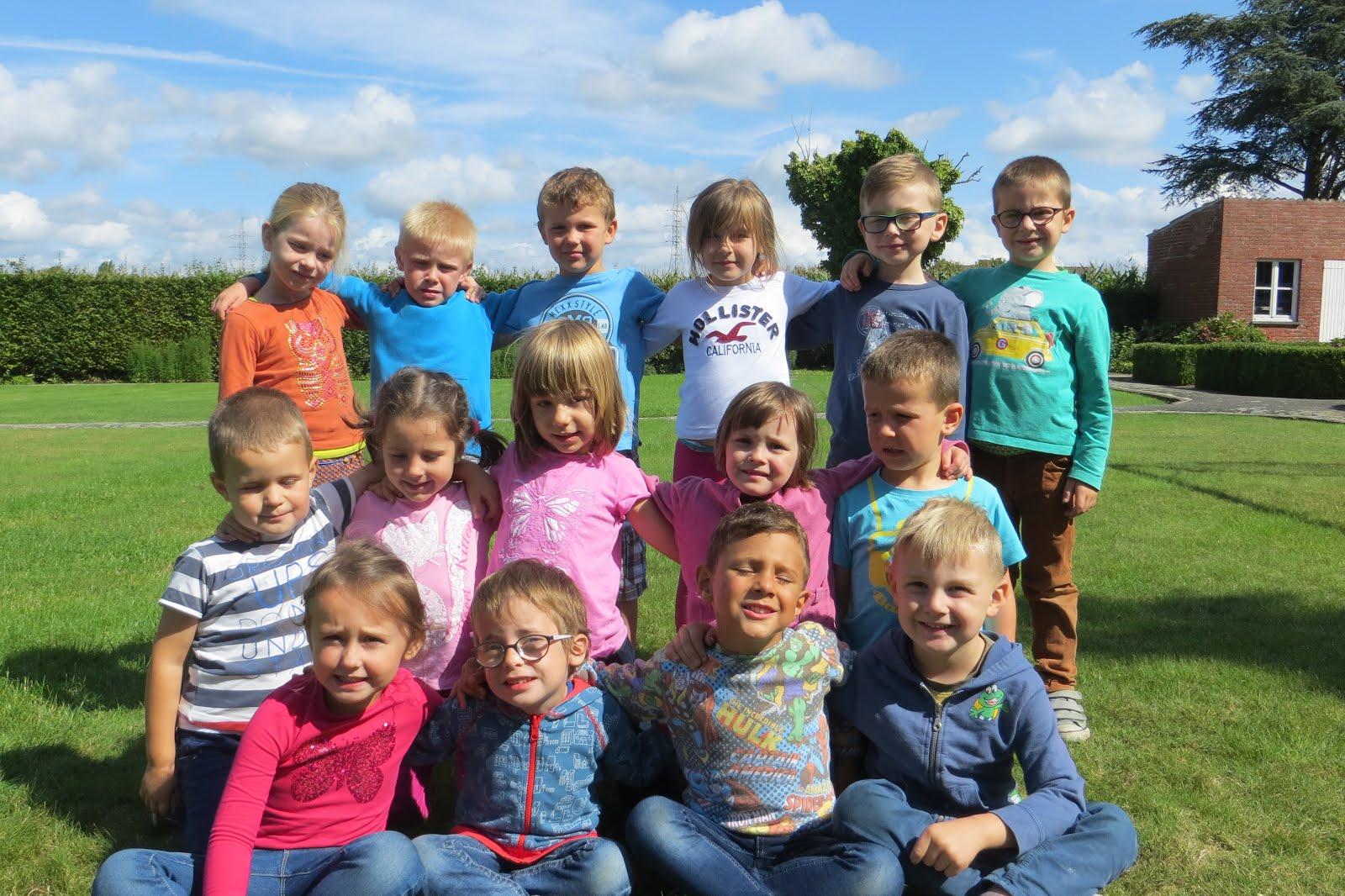 de 15 lieve kindjes van de klas