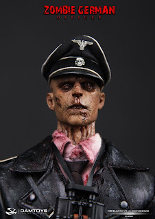 Damtoy 1/6 Scale Zombie German Officer figure