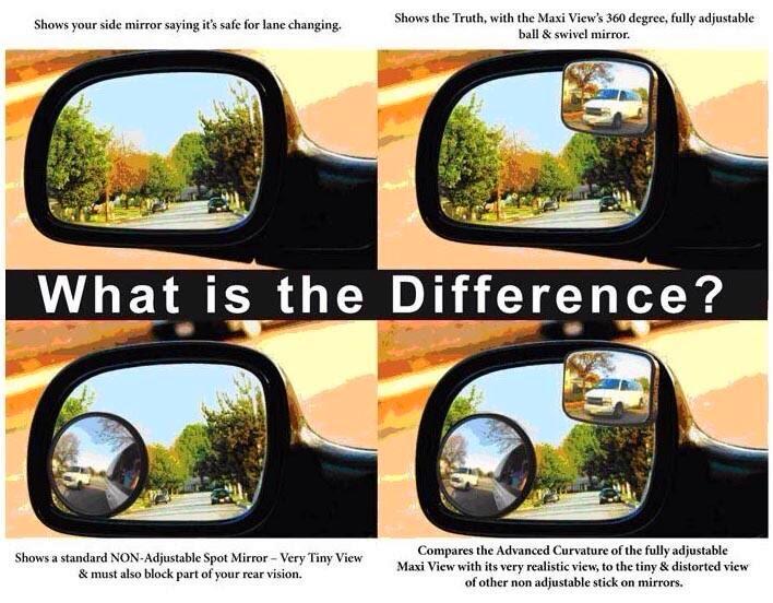 ضبط مرايات المركبة السيارة لتغطية المنطقة العمياء