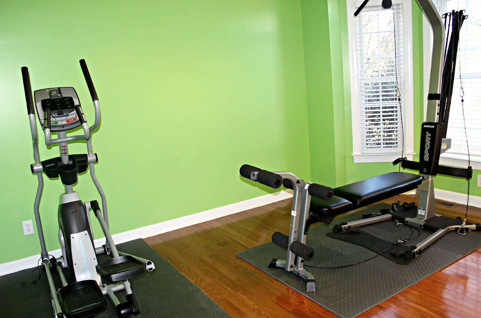Home Gym Wall Color Green Maybe the color will grow on me. If not, then in a couple weeks, I'll test a few more paint colors and plan to repaint our home gym during my Easter ...