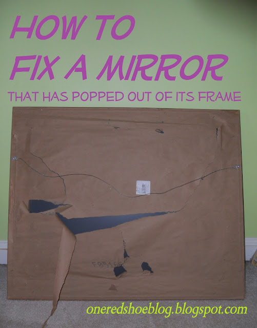 cover- tutorial for DIY to fix a mirror