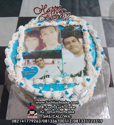 Birthday Cake Foto Edible Untuk Pacar