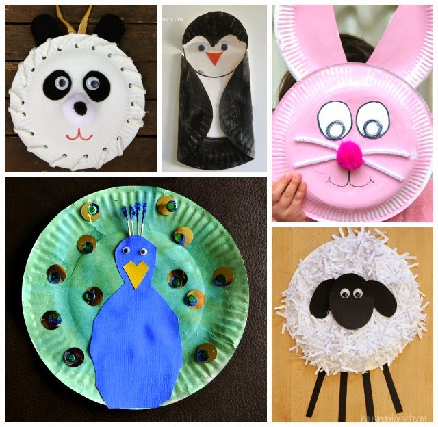 Paper Plate Owl by Happy Hooligans & Learn with Play at Home: 20 Fabulous Paper Plate Animal Crafts