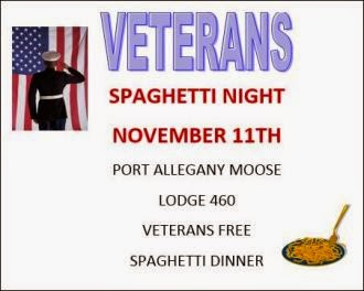 11-11 Veterans Spaghetti Night