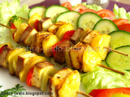 Zeleninové ražniči s tofu - recepty