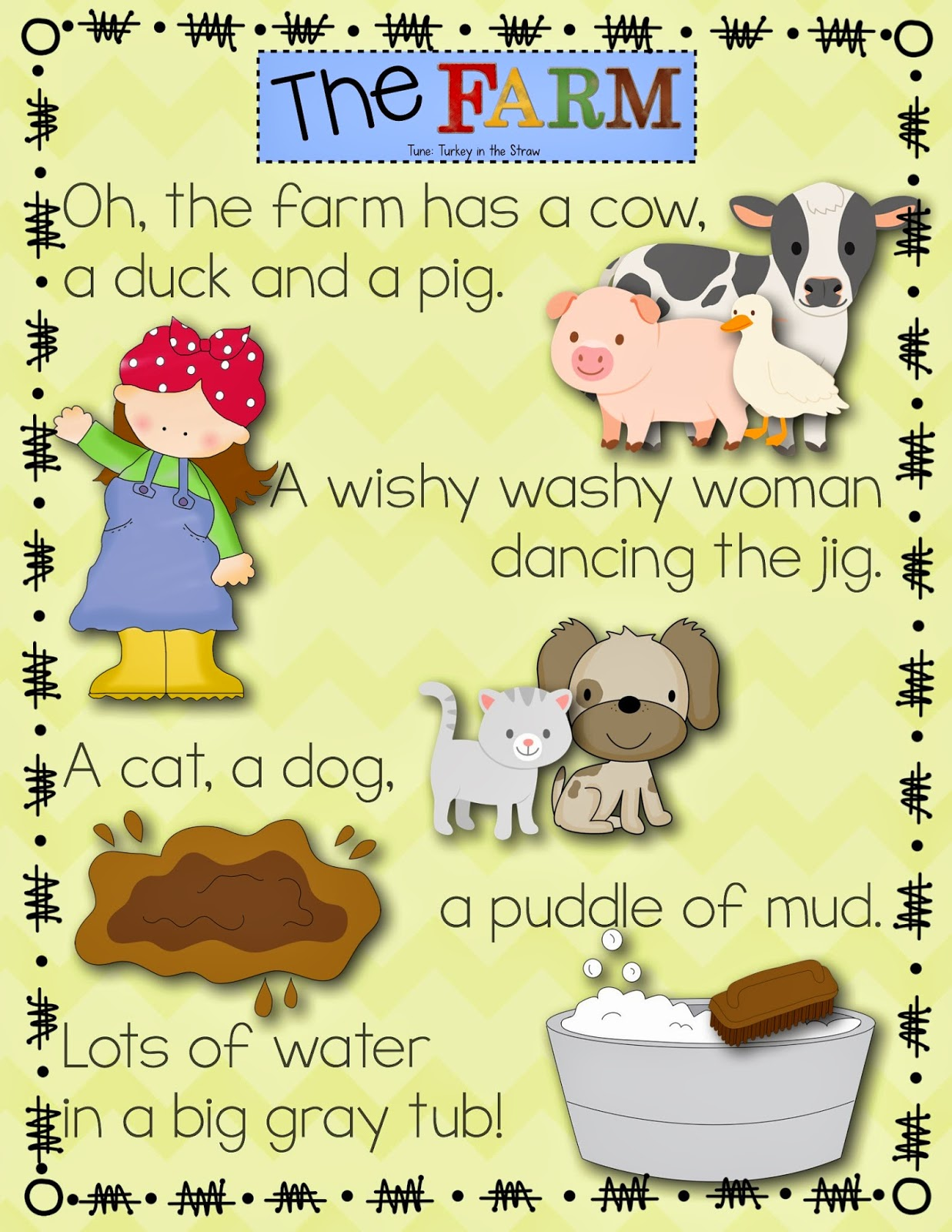 farm songs for preschoolers kindergarten kiosk mrs wishy washy freebie 683
