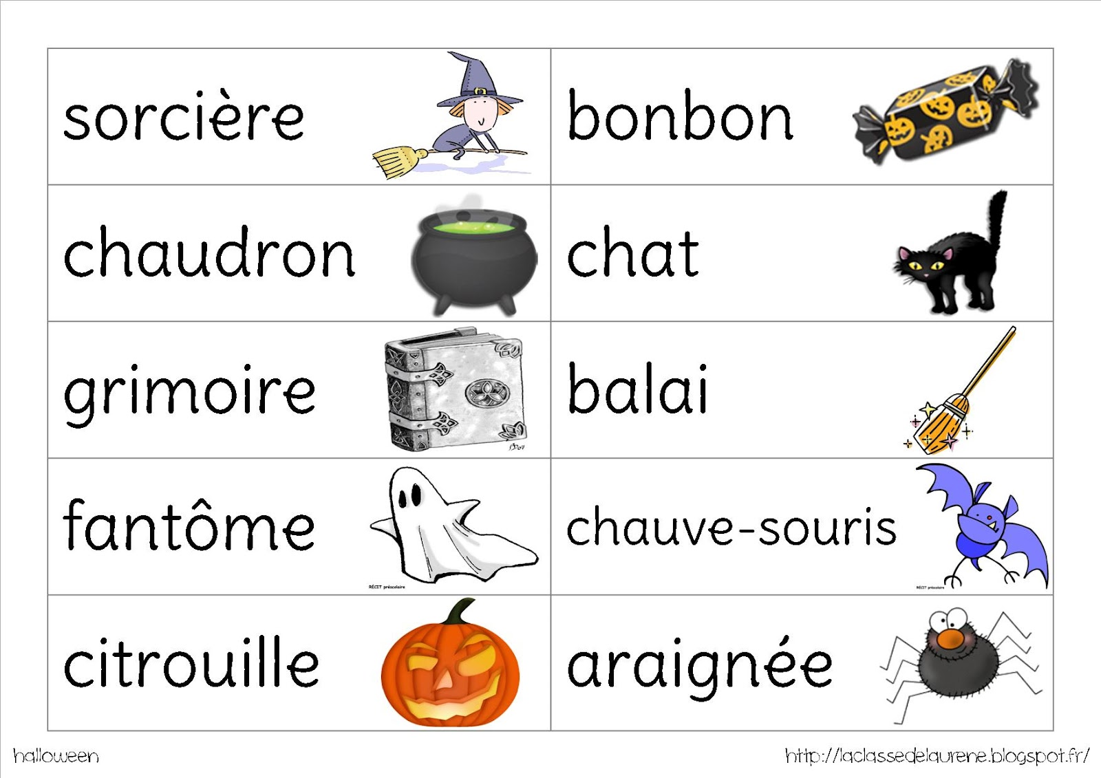 Gut bekannt La maternelle de Laurène: Halloween GO43