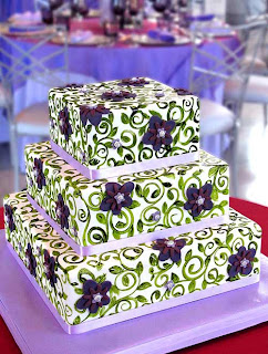 Beautiful Square Fondant Birthday Cake