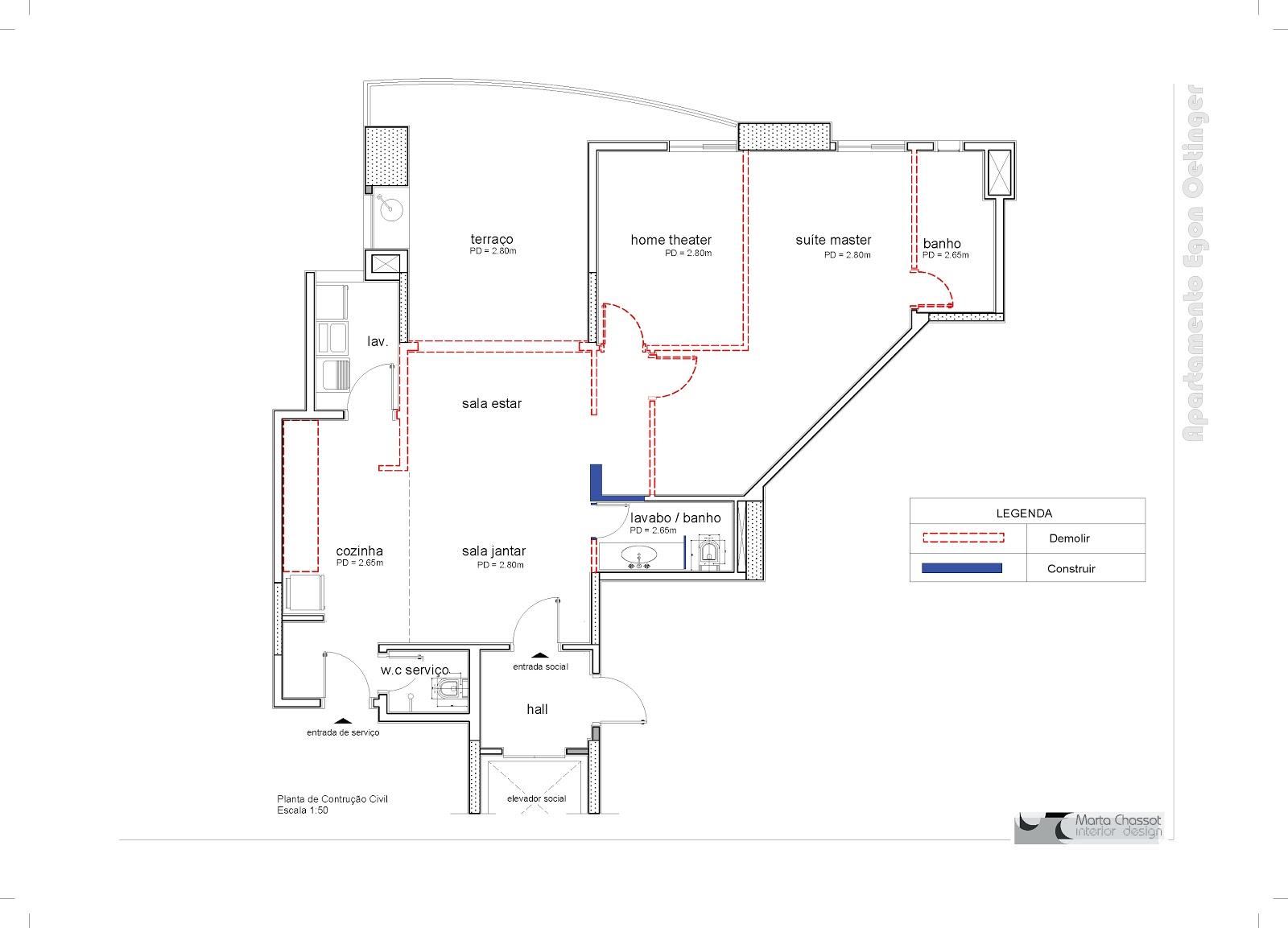 Sr. Egon Oetinger Projeto Executivo Design de Interiores #AF1C24 1600 1153