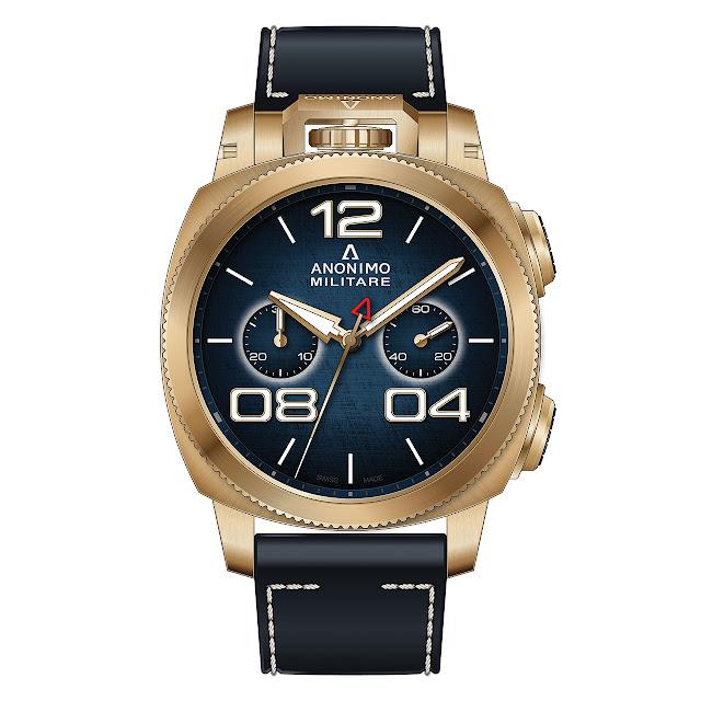 Anonimo Militare Chrono Bronze Mechanical Automatic Watch