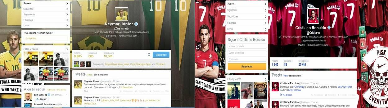 Nike obliga a Neymar y a Cristiano Ronaldo a cambiar los perfiles de sus Twitter