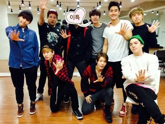 Super Junior, Lee Teuk ile Olan Bir Grup Foto�raf� Payla�t�! /// 27 Aral�k 2013