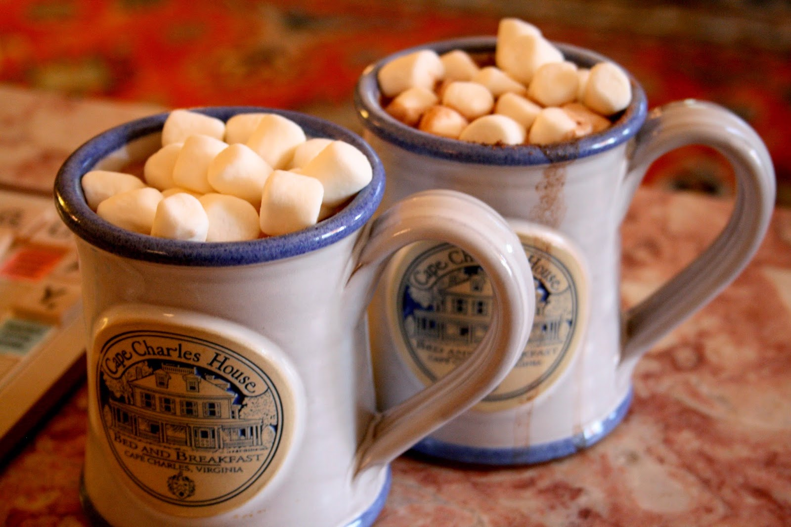 Hot Cocoa at Cape Charles House, VA - Blog With The Browns