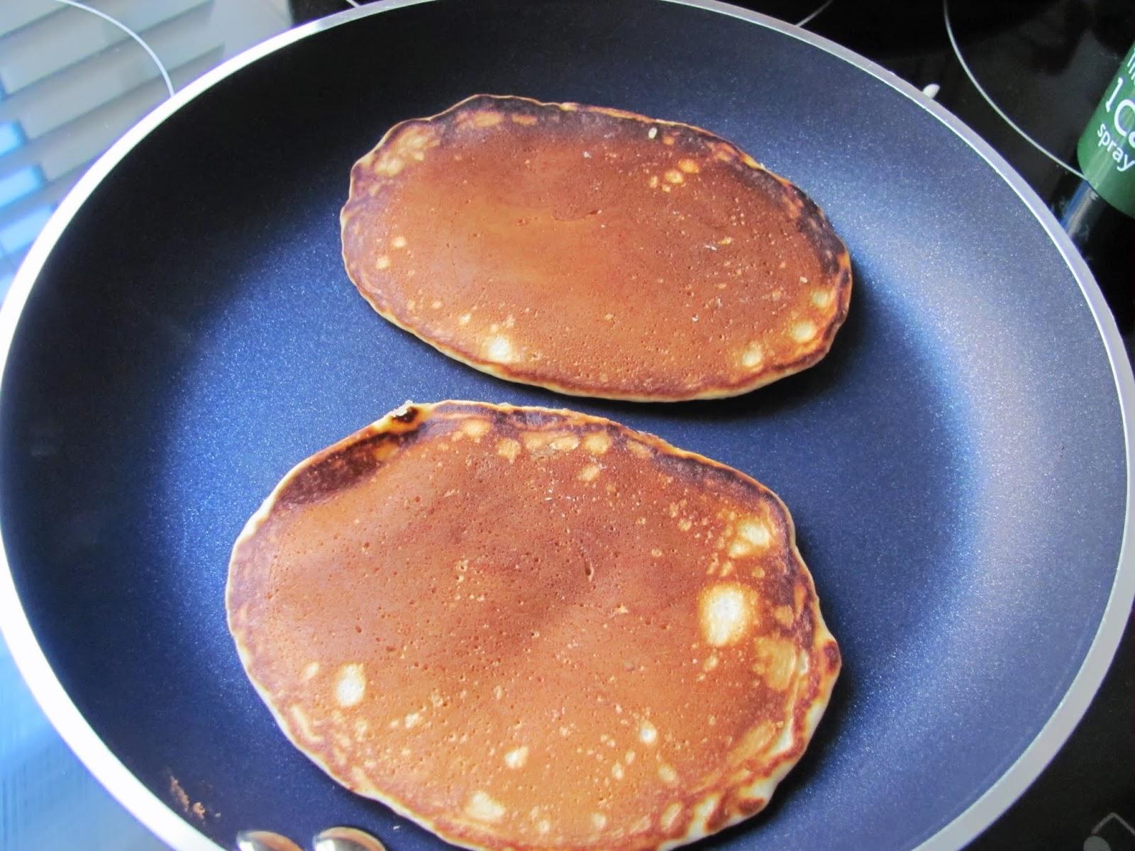Good looking pancakes in a nice skillet