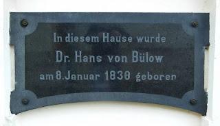 Originalgedenktafel Hans von Bülow